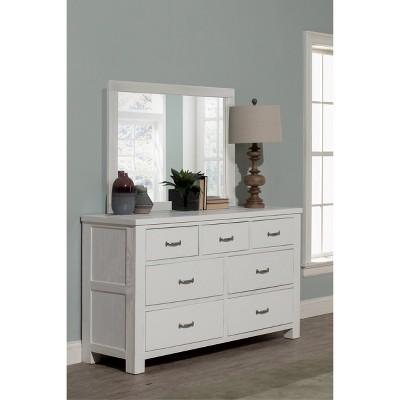 Highlands 7 Drawer Dresser with Mirror White - Hillsdale Furniture