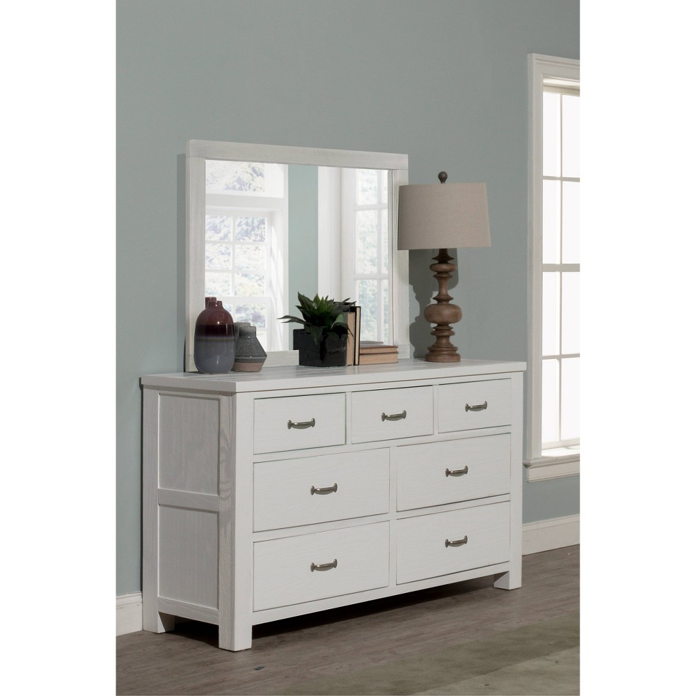 Highlands 7 Drawer Dresser With Mirror White Hillsdale Furniture