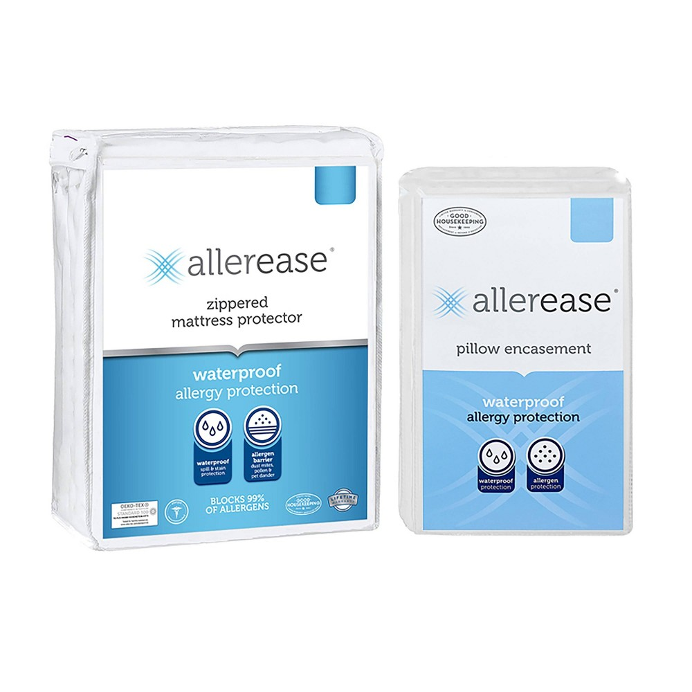 Twin Waterproof Mattress Cover With Pillow Cover Allerease