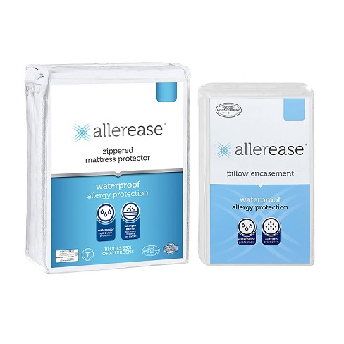 Waterproof Mattress Cover with Pillow Cover - Allerease - image 1 of 3