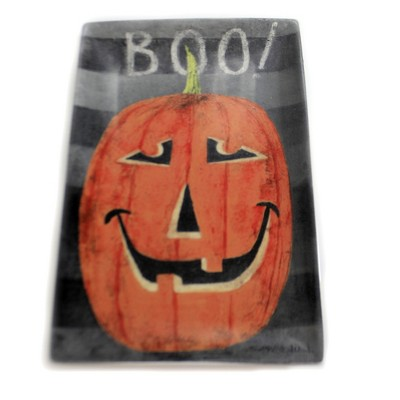 "Tabletop 12.5"" ""Boo"" Jack-O-Lantern Platter Halloween Round Top Collection  -  Serving Platters"