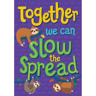 One World Together We Can Slow the Spread Poster - Carson Dellosa