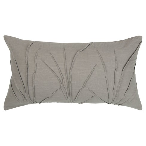 Textured Solid Decorative Filled Oversize Lumbar Throw Pillow Rizzy Home