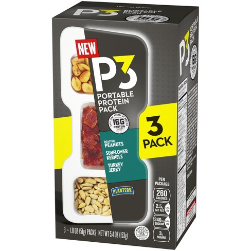 Planters P3 Portable Protein Pack 3ct / 5.4oz : Target on
