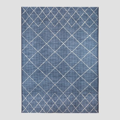 7.5' x 10' Spacedye Outdoor Rug Blue - Opalhouse™