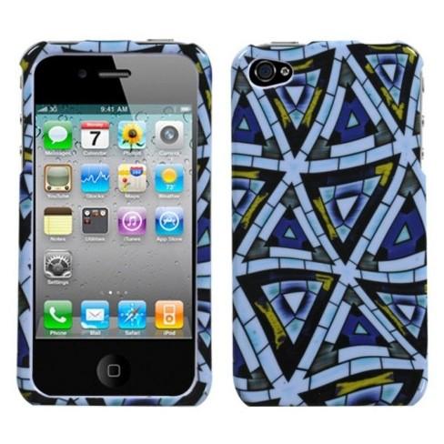 MYBAT For Apple iPhone 4/4S Triangular Mosaic Hard Case - image 1 of 1
