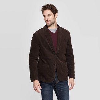 Men's Standard Fit Corduroy Blazer - Goodfellow & Co™ Natural Brown M