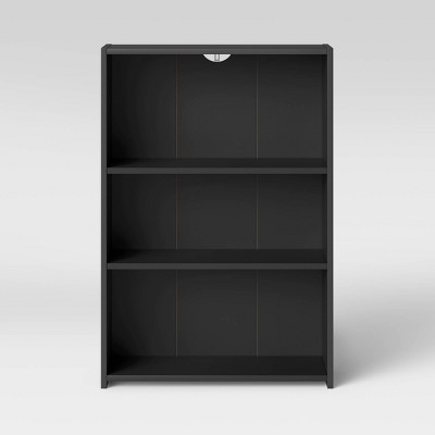 3 Shelf Bookcase Black - Room Essentials™