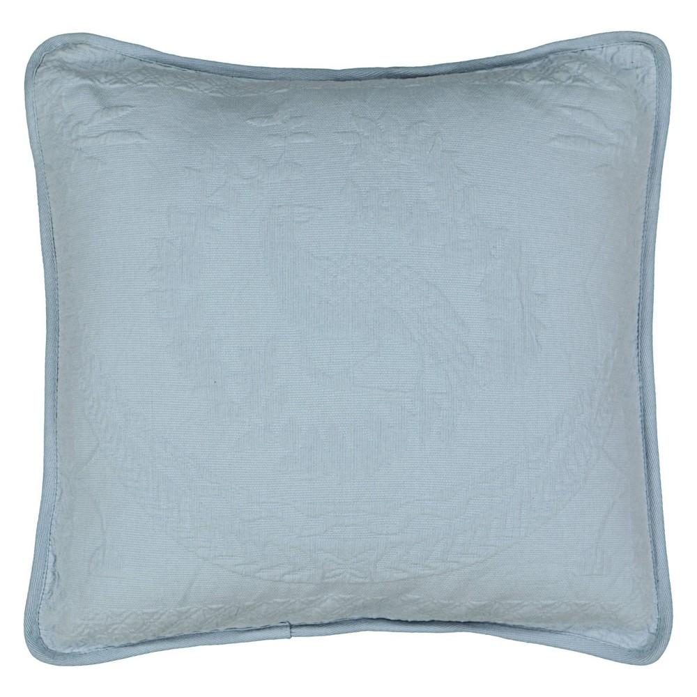 "Image of ""Blue King Charles Matelasse Throw Pillow (20x20"""") - Historic Charleston"""