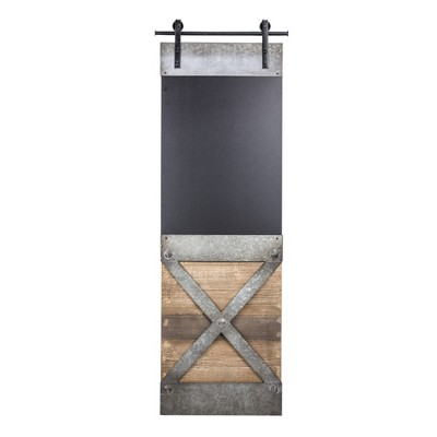 Wood And Metal Chalkboard Wall Decor Brown - E2 Concepts
