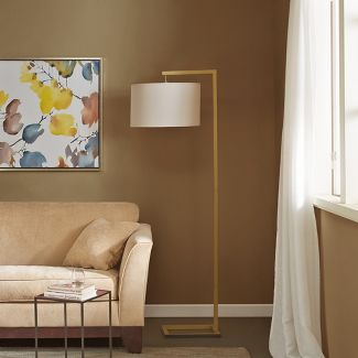 "68"" Delta Floor Lamp Gold"