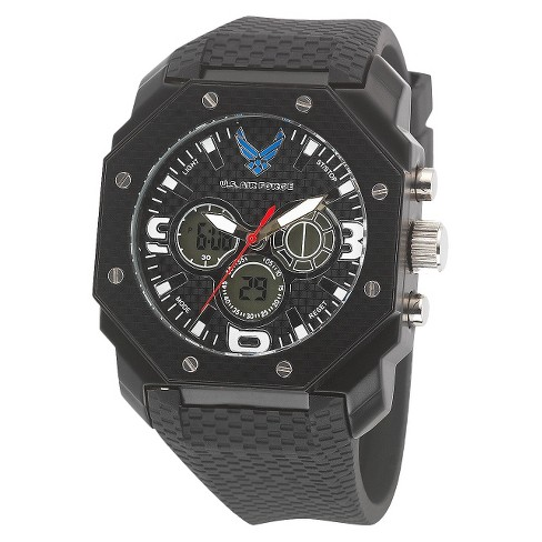 Men's' Wrist Armor U.S. Air Force C28 Analog-Digital Quartz Watch - Black - image 1 of 5