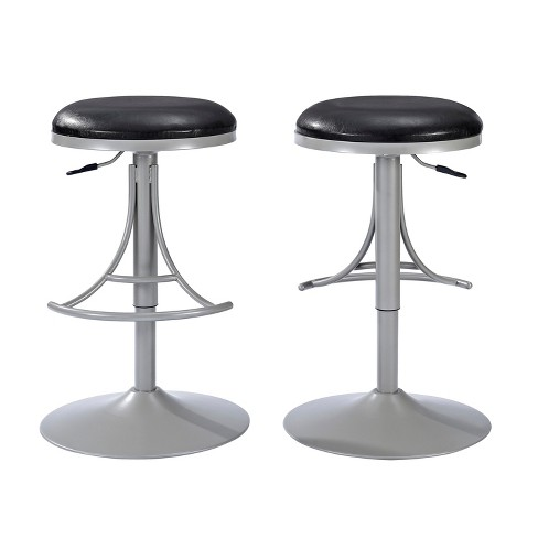 Tremendous Jasper Backless Swivel Counter Stool Platinum With Black Cushion Crosley Ocoug Best Dining Table And Chair Ideas Images Ocougorg