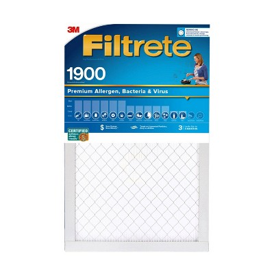 Filtrete Premium Allergen Bacteria and Virus Air Filter 1900 MPR