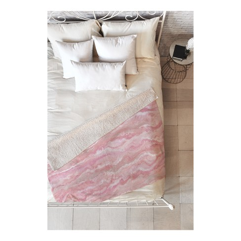 "Pink Marble Throw Pillow 50""X60"" - Deny Designs - image 1 of 1"