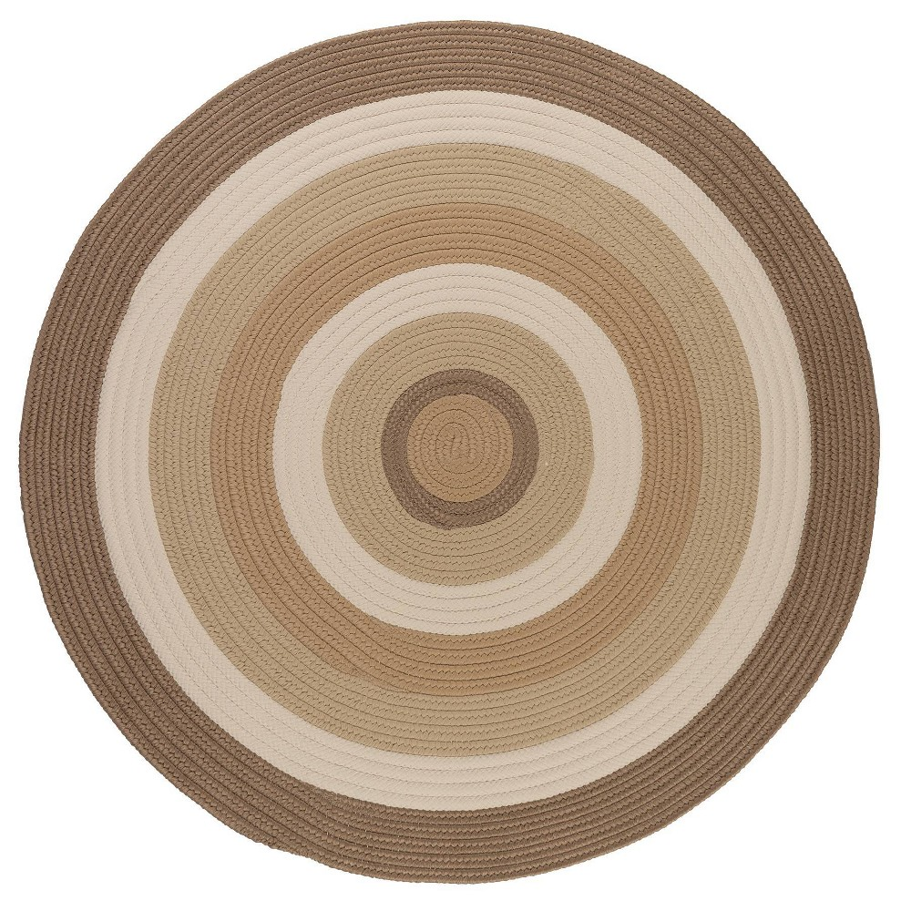 Round Mountain Top Braided Area Rug Natural