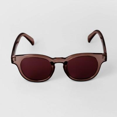 Men's Crystal Square Sunglasses - Goodfellow & Co™ Burgundy