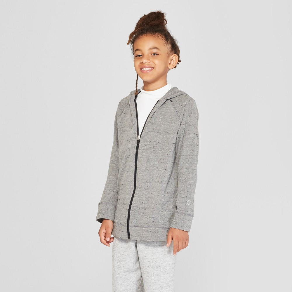Boys' Soft Touch Full Zip Hoodie - C9 Champion Heather Grey S