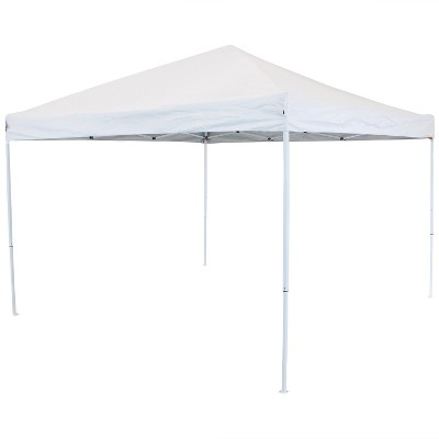 10'x10' Quick-Up Steel Frame Canopy with Carrying Bag White - Sunnydaze