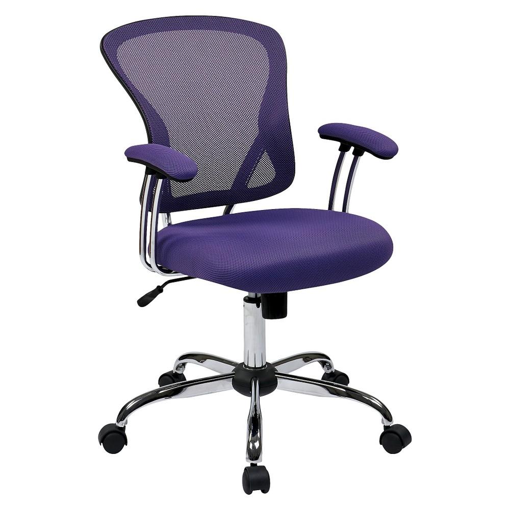 Juliana Task Chair in Purple Mesh - Osp Home Furnishings