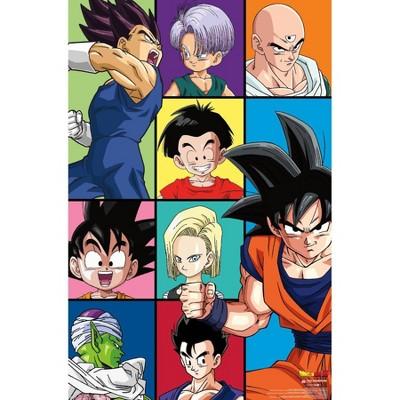 "22.375"" x 34"" Dragon Ball Z - Grid Unframed Wall Poster Print - Trends International"