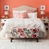Blush Pinched Pleat Comforter Set (King) 3pc - Threshold™ - image 3 of 3