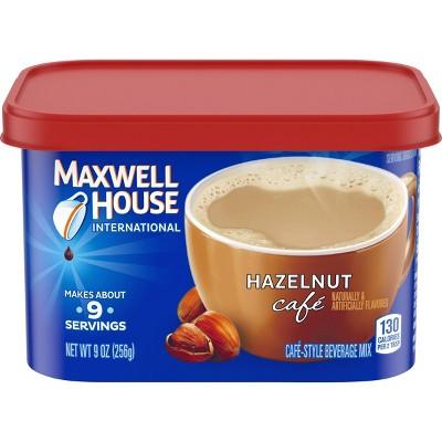 Maxwell House International Hazelnut Cafe Light Roast Coffee - 9oz Tub