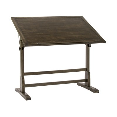 Studio Designs 13314 42 X 30 Inch Artist Art Craft Drafting Drawing Studio Board Desk Table with Adjustable Tilting Top, Distressed Black Vintage Wood