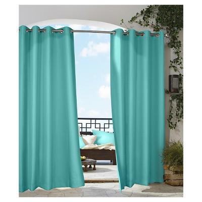 Outdoor DécorGazebo Indoor/Outdoor Curtain Panel - Aqua (50 x96 )®