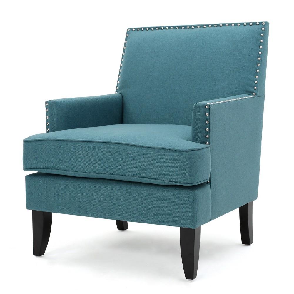 Tilla Club Chair - Dark Teal - Christopher Knight Home