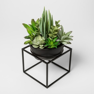 Faux Succulent Plant in Black Pot - Project 62™
