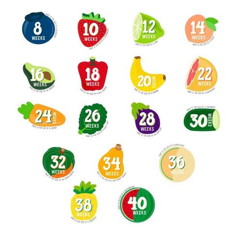 Pearhead Pregnancy Milestone Stickers - Set of 17 - image 1 of 4