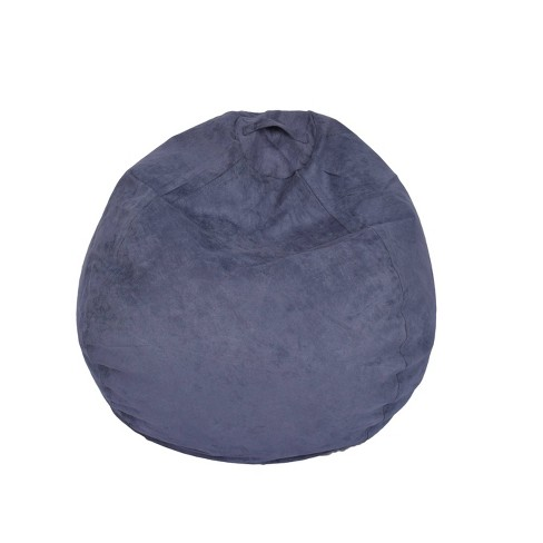 Large Micro Suede Bean Bag Chair - ACEssentials - image 1 of 2