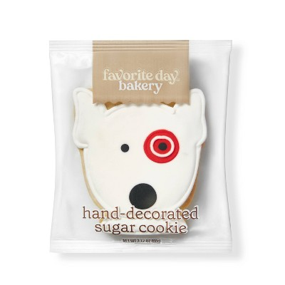 Bullseye Dog Sugar Cookie - 1ct - Favorite Day™
