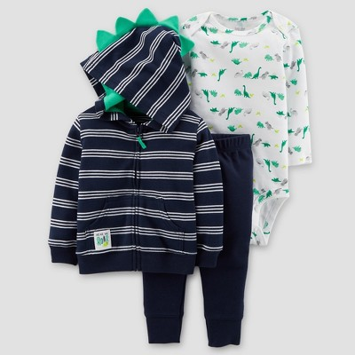 Baby Boys' Dinos 3pc Set - Just One You® made by carter's Navy/Green 6M