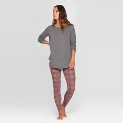 Women's Buffalo Check Cozy Pajama Set - Stars Above™ Burgundy
