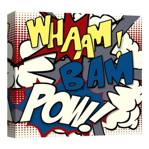 "Whaam! Decorative Canvas Wall Art 16""x16"" - PTM Images - image 1 of 1"