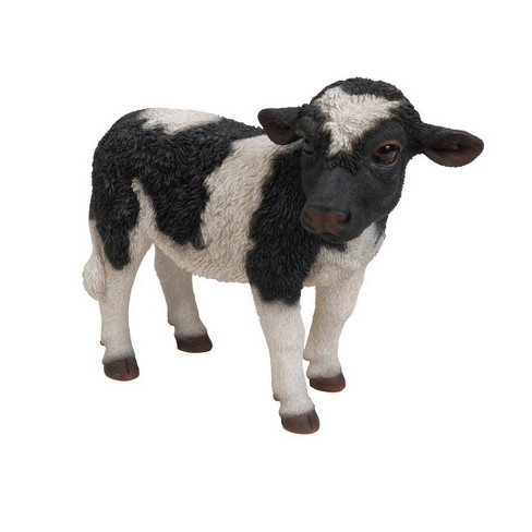 """7"""" Polyresin Standing Cow Statue Black - Hi-Line Gift - image 1 of 1"""