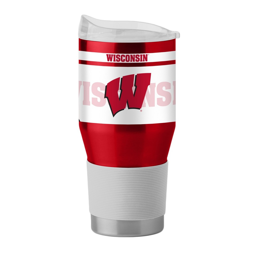 NCAA Wisconsin Badgers Boelter 24oz Silicone Sleeve Stainless Ultra Tumbler