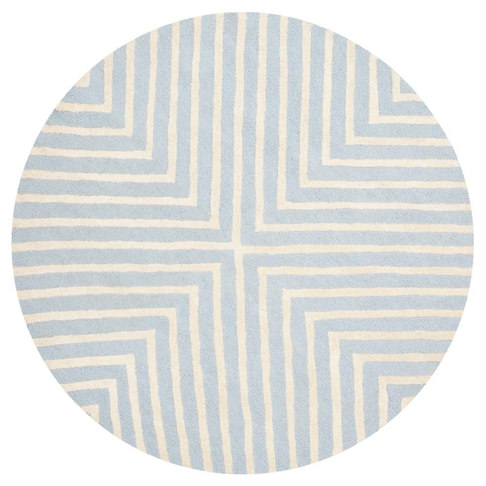 6' Geometric Area Rug Light Blue/Ivory - Safavieh