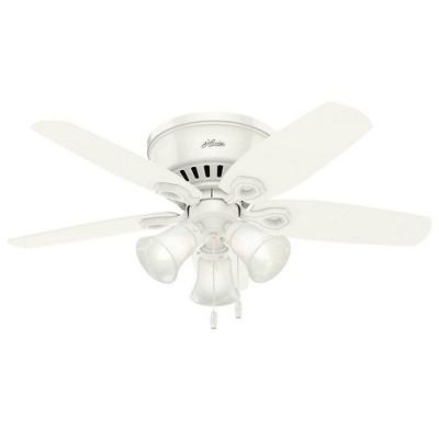 """42"""" Builder Low Profile Snow LED Lighted Ceiling Fan - Hunter Fan"""
