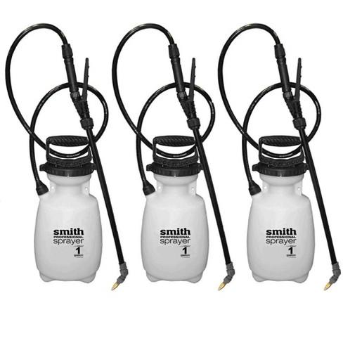 Smith Professional 1 Gallon Manual Pump Heavy Duty Sprayer w/ 5 Nozzles (3  Pack)