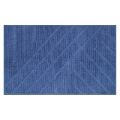 Geo Stripe Bath Mat (20 X34 )Balanced Blue - Project 62™ + Nate Berkus™