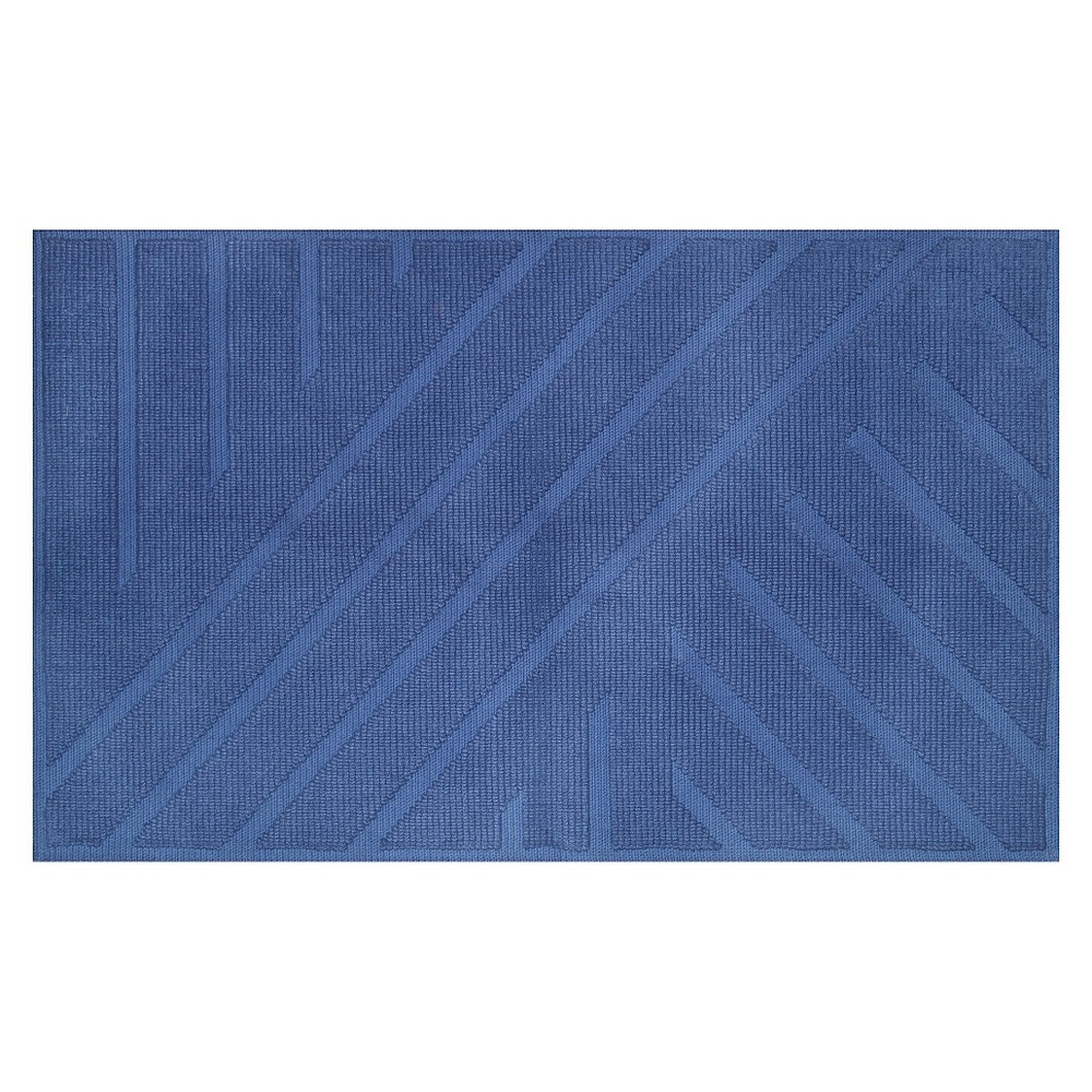 "Image of ""20""""x34"""" Geo Stripe Bath Mat Blue - Project 62 + Nate Berkus"""