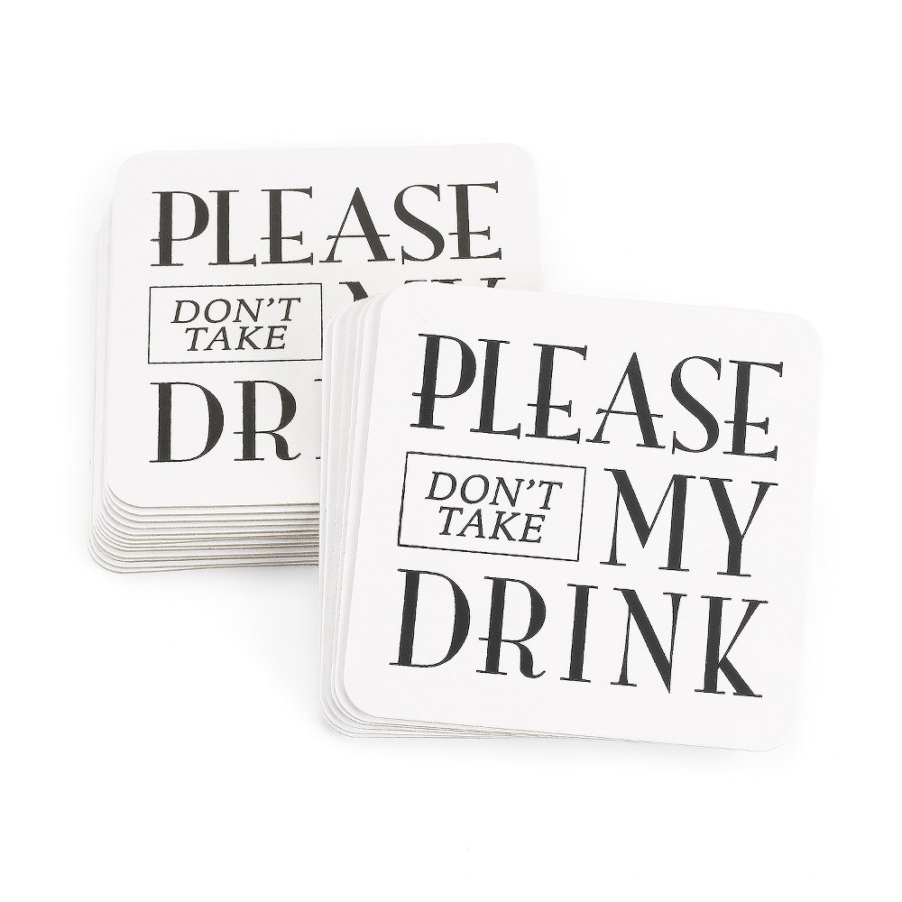 Image of 25ct Please Dont Take My Drink' White Coaster Set