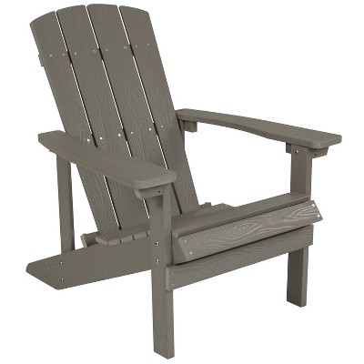Flash Furniture Charlestown All-Weather Adirondack Chair in Faux Wood
