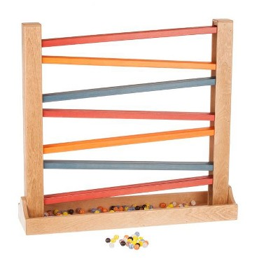 Remley Kids Wooden Heirloom Marble Roller - Marbles included