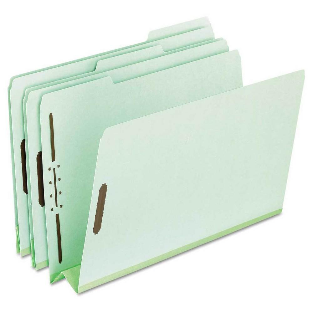 Pendaflex Pressboard Classification Folders, 2 Fasteners, 25 ct - Green