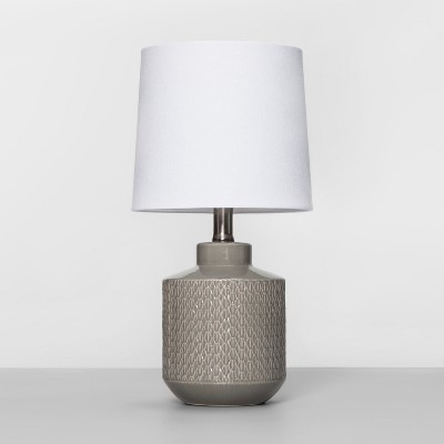 Pattern Ceramic Table Lamp Gray (Includes Energy Efficient Light Bulb)- Project 62™