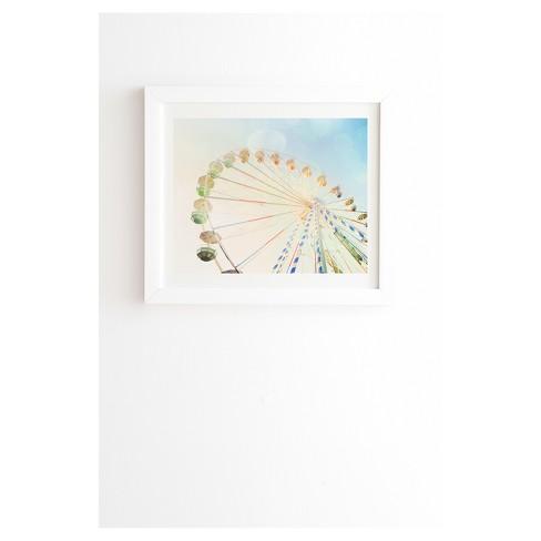 "Happee Monkee Ferris Wheel Framed Wall Art 19"" x 22.4"" - Deny Designs - image 1 of 3"